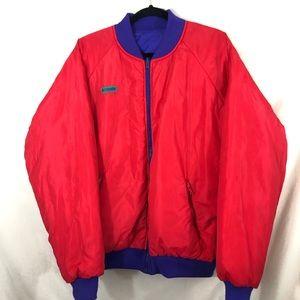 Vintage Reversible Columbia bomber colorful jacket